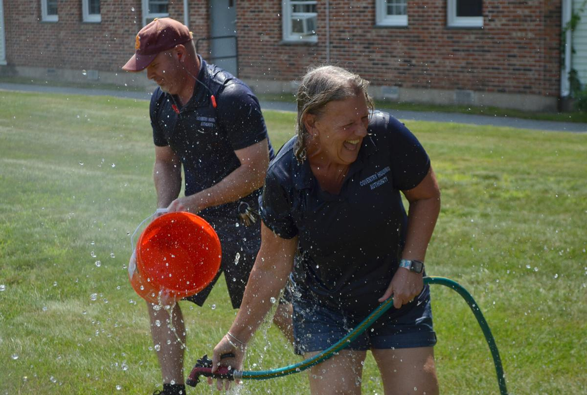 CHA director gets drenched to support ALS Association Rhode Island