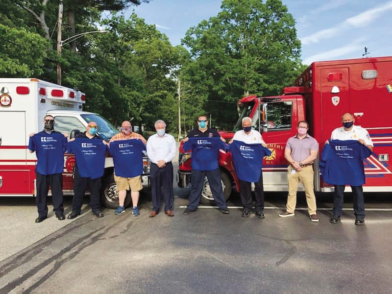 In this together: Kent Hospital COO and president pays a visit to local first responders