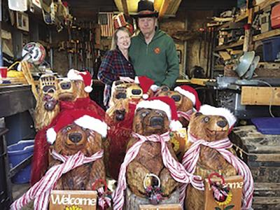 Coventry resident spends months carving wooden bears for family