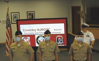 Coventry NJROTC holds virtual award, promotion ceremony