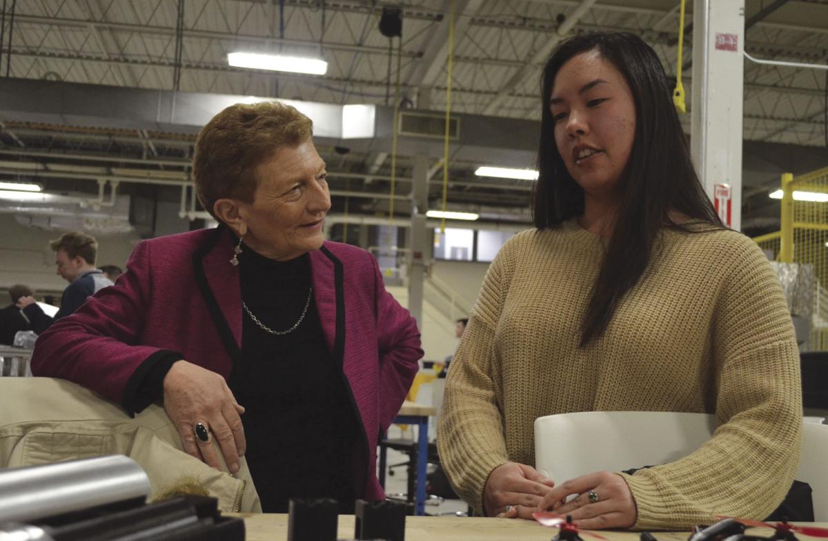 Commissioner Brenda Dann-Messier pays a visit to URI Engineering