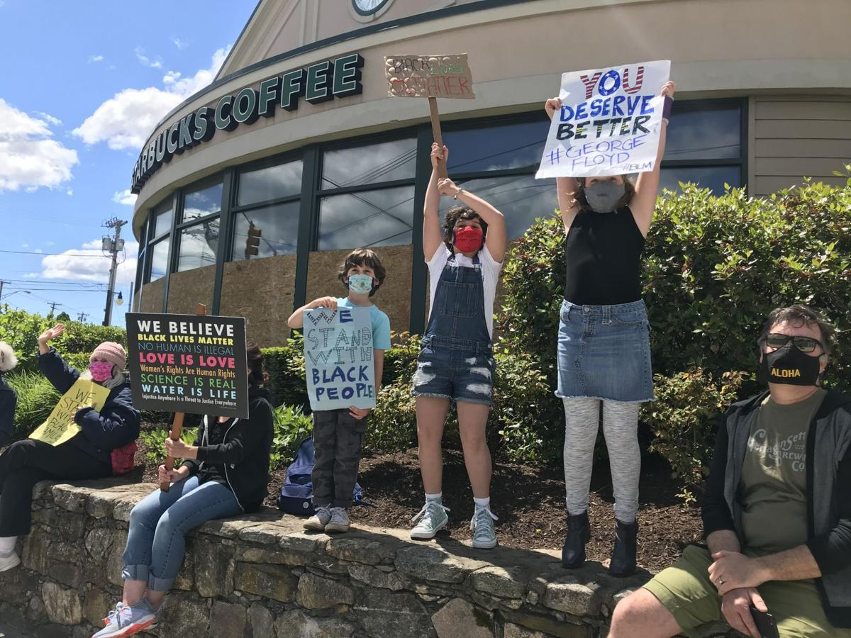 Locals stand for Black Lives Matter movement