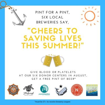 Local breweries team up to encourage blood donations