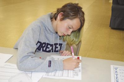 Coventry teens create thank you cards for local veterans