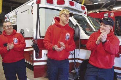 A hero's welcome: Central Coventry Fire District welcomes Michael Dandurand back to work following deployment