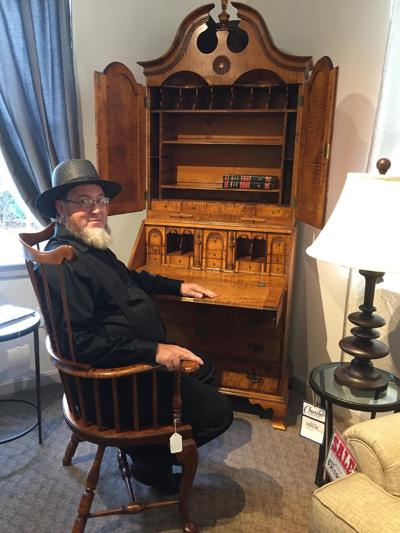 Amish furniture month includes meet an Amish craftsman, free Amish fruit fry pies and rocking chair giveaway.