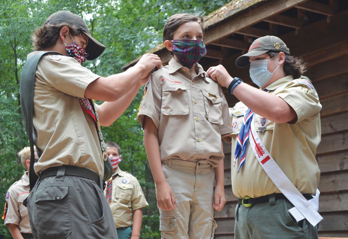 Members of Pack 1913 graduate to Scouts BSA during weekend ceremony