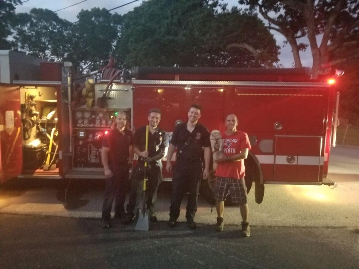 A 'ruff' rescue: Narragansett firefighters save dog trapped underground