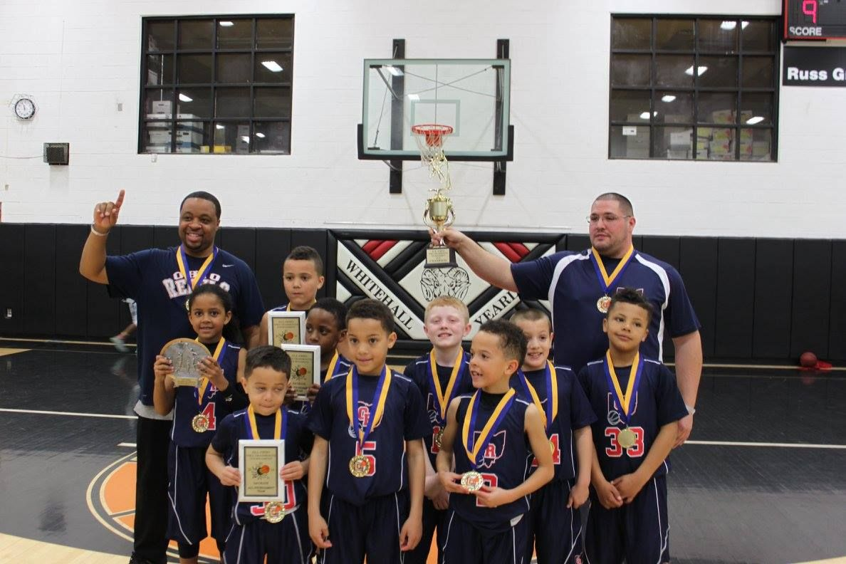 The Ohio Rebels, a local 2nd grade basketball team, won an AAU tournament  in Whitehall last Sunday. (Submitted Photo)