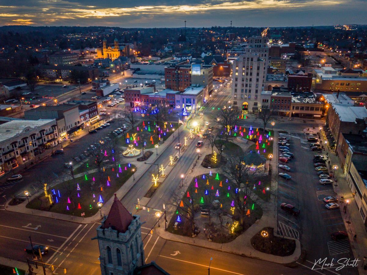 Second Place: City lights