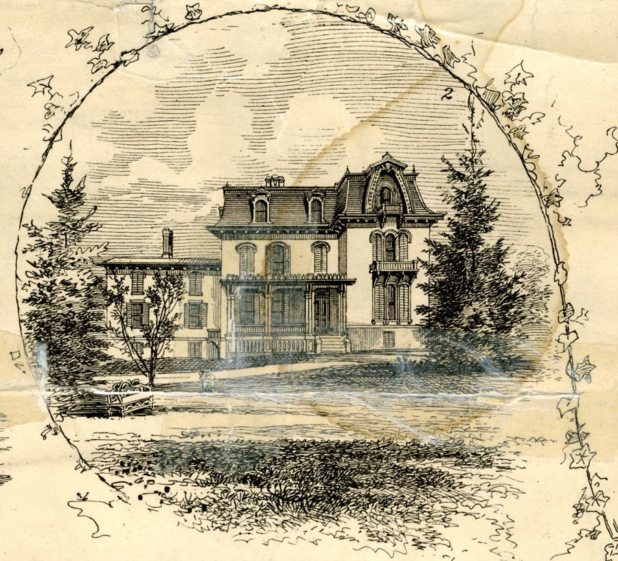 Sherman's mansion in its original state