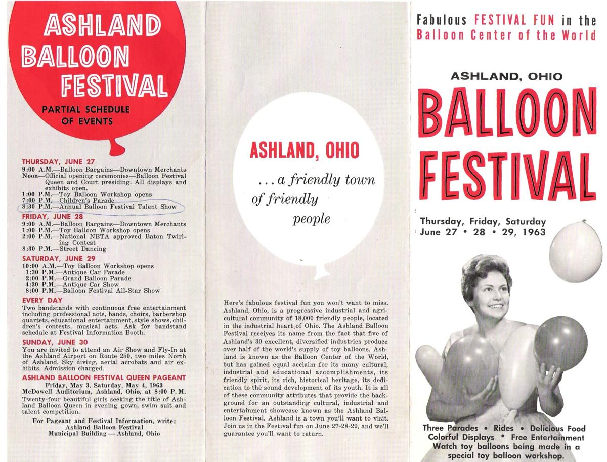 1963 Ashland Balloon Festival Schedule of events