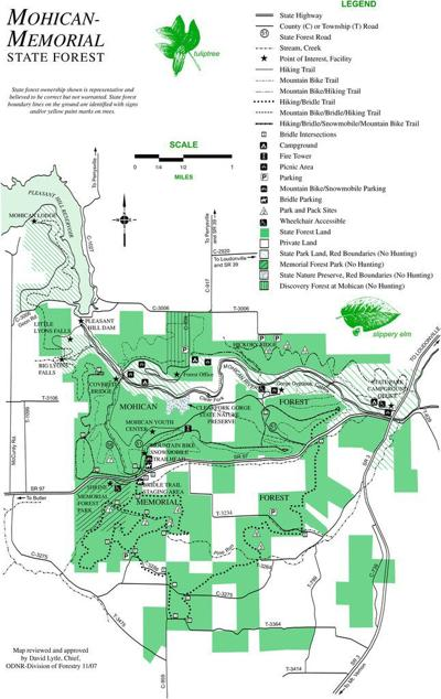 Map of Mohican-Memorial State Forest