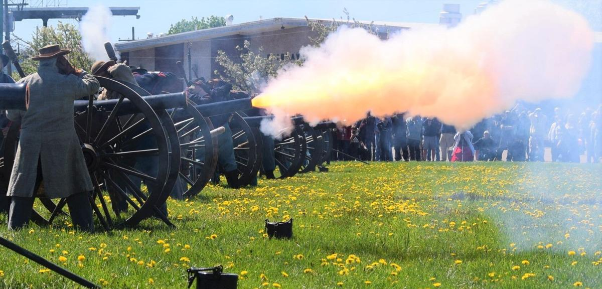 Cannons fire