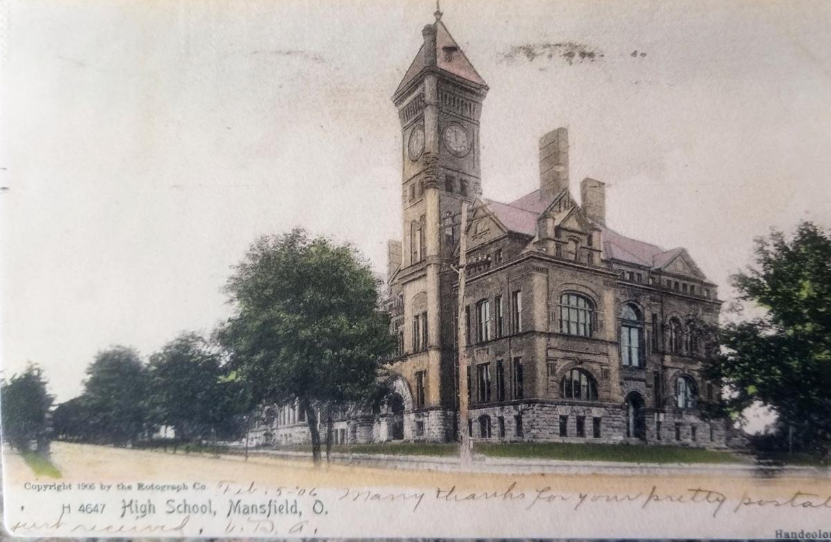 1906 Mansfield High School postcard