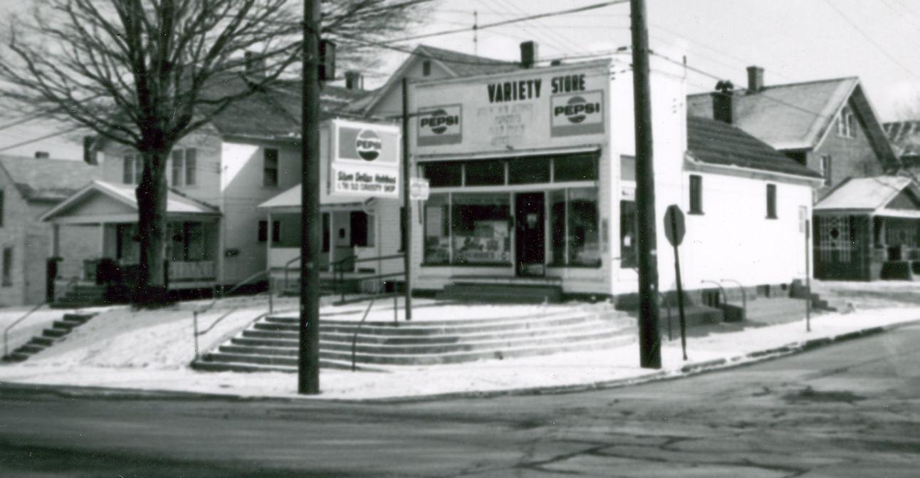 Corner store on Chestnut & South Main: 1975