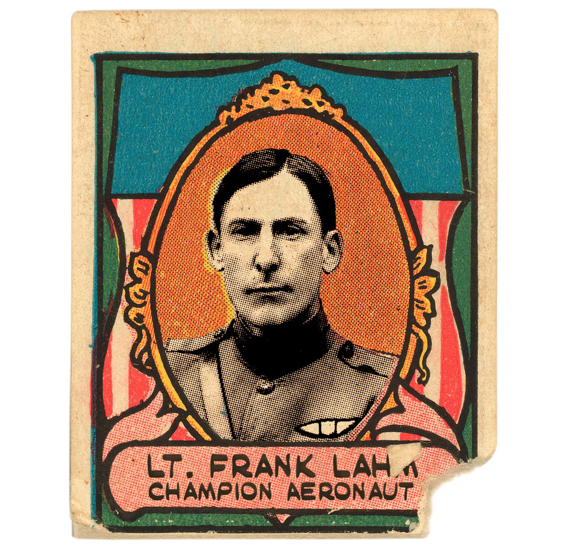 Lahm on a sports stamp 1911