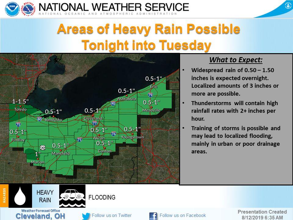 Weather advisory graphic