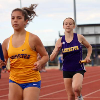Lex girls relay team breaks record on opening day of Division I district meet at Findlay
