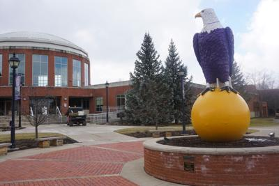 Ashland University Eagles bulding and mascot