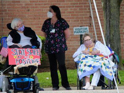 Lexington Court Care Center residents celebrate Memorial Day with drive-thru parade