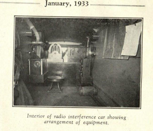 Interior of radio truck