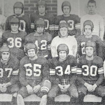 Perrysville's 6-man football team rolled to 1951 Tri-County crown