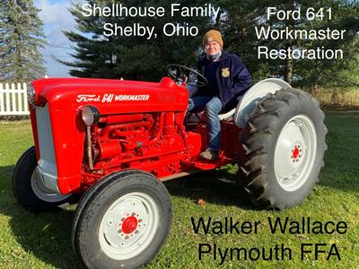 Plymouth student restores Shelby family's tractor