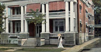 A postcard view of The Colonial