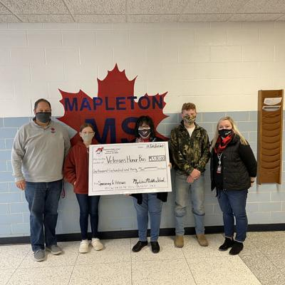 Mapleton Middle School students raise $1,530 to send 6 veterans to D.C.