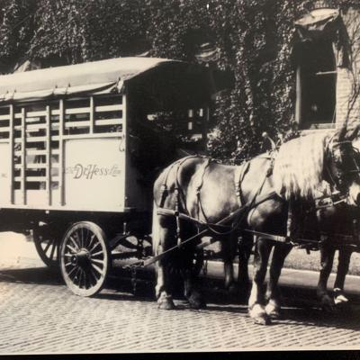 Hess & Clark started with free samples from a horse-drawn carriage in Perry Township