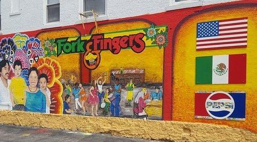 Fork & Fingers mural