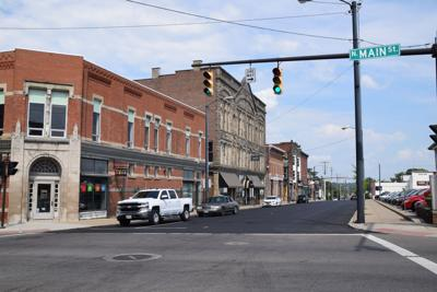 Downtown Mansfield intersection