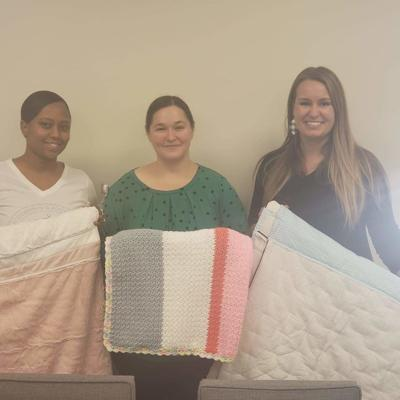 Richland Correctional Institution donates 9 blankets to Hospice of North Central Ohio