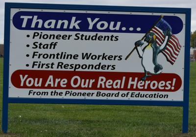 Pioneer thank you sign