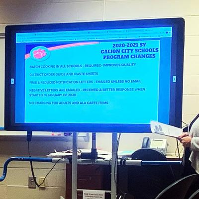 Galion Board of Education learns about district's food service operations