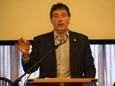 Trump won't back down to Iran, Balderson says during Mansfield visit