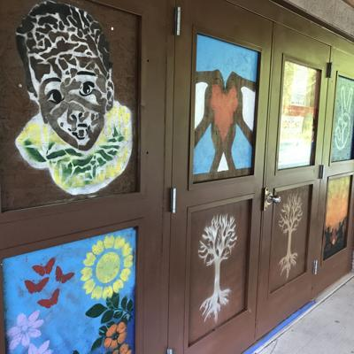 Local artists spread positivity at North Lake Park after ongoing vandalism