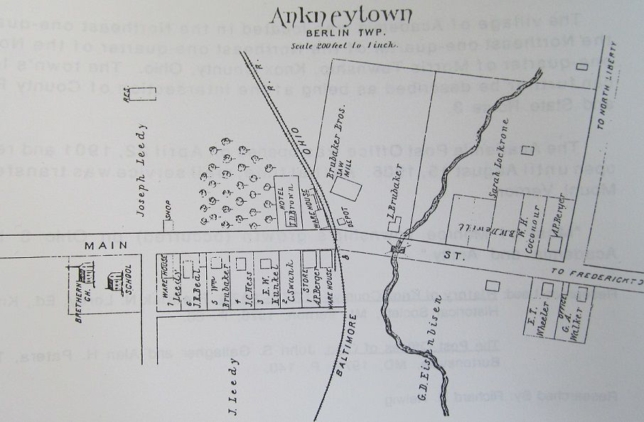 Ankenytown Map 1871