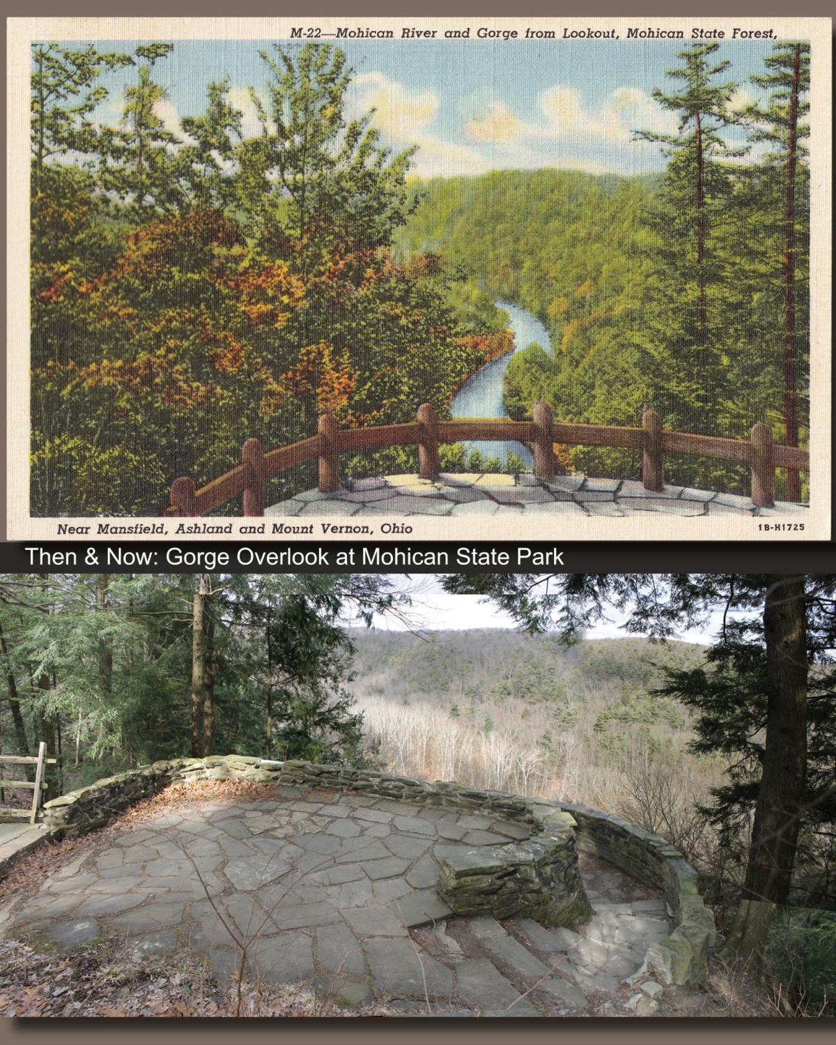 Then & Now: The Gorge Overlook at Mohican 1943