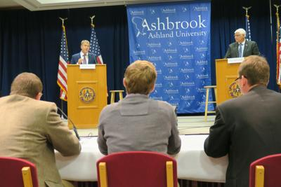 Gibbs, Harbaugh debate defines differences in U.S. 7th District battle