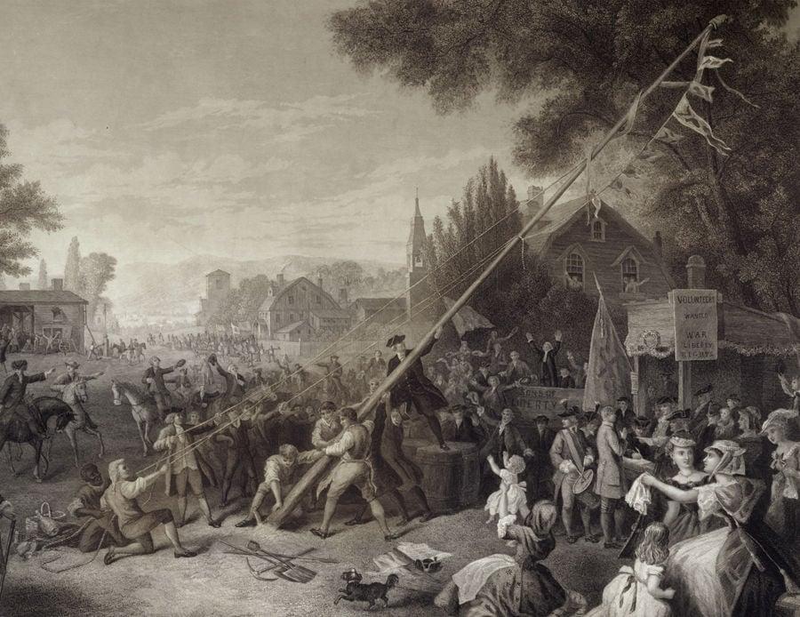 Raising the Liberty Pole