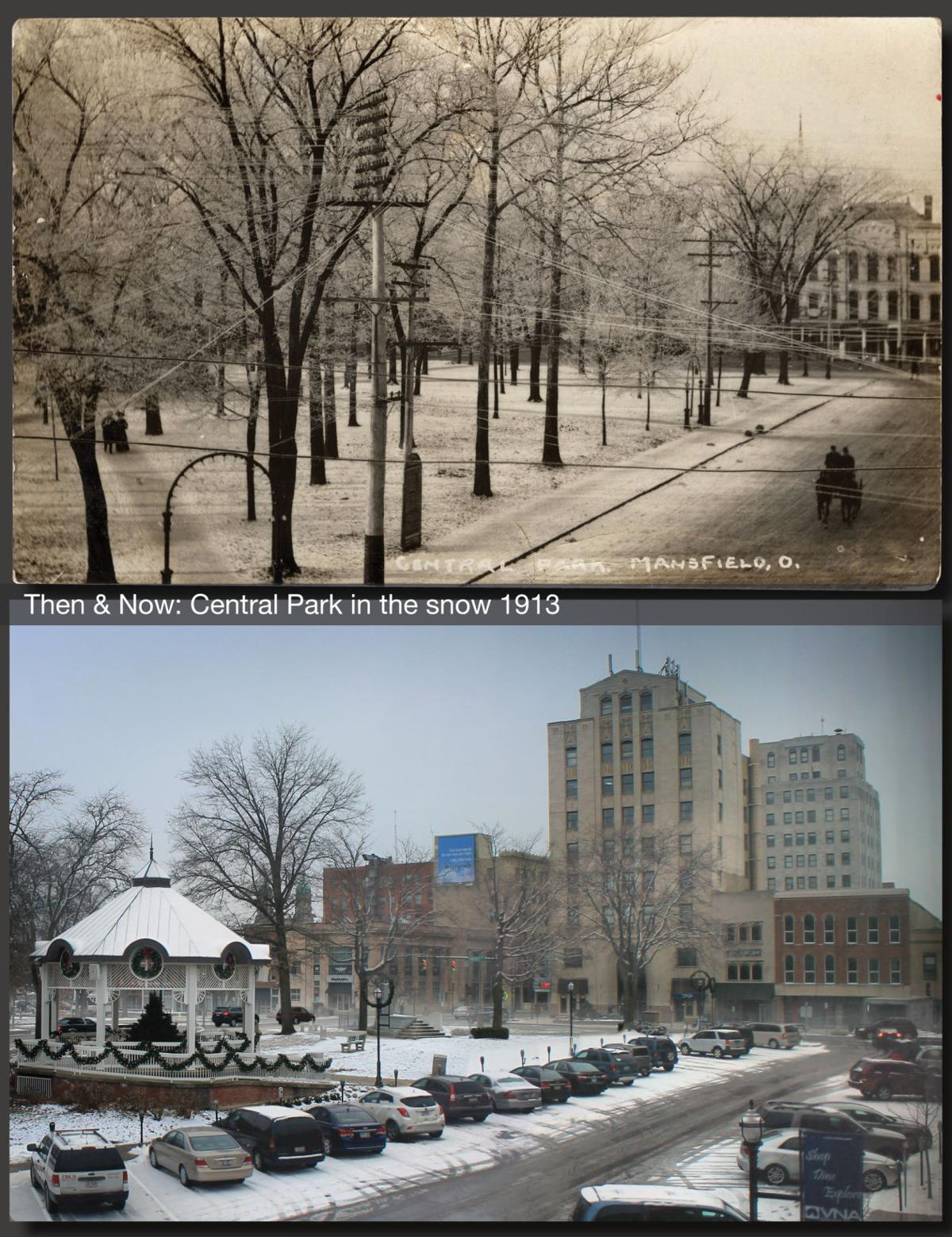 Then & Now: Central Park in the snow 1913
