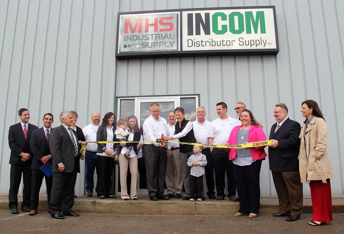 MHS Industrial Supply ribbon cutting