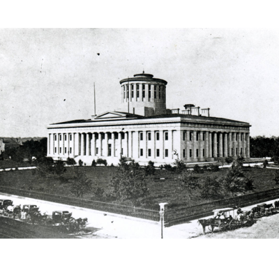 The Ohio Statehouse was constructed as a symbol of Democracy