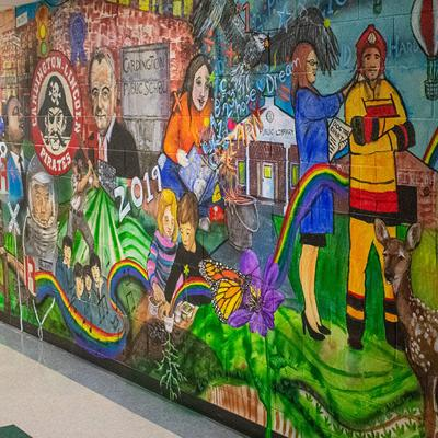 Mural reflects on the past, present and future at Cardington Elementary