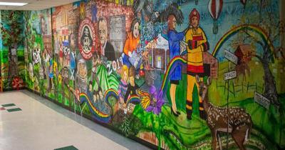 Cardington Schools mural