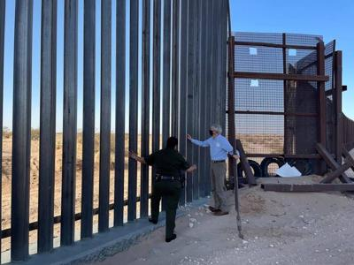 Border wall unfinished