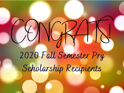 Community Foundation for Crawford County announces 2020 fall semester Pry Scholarship recipients