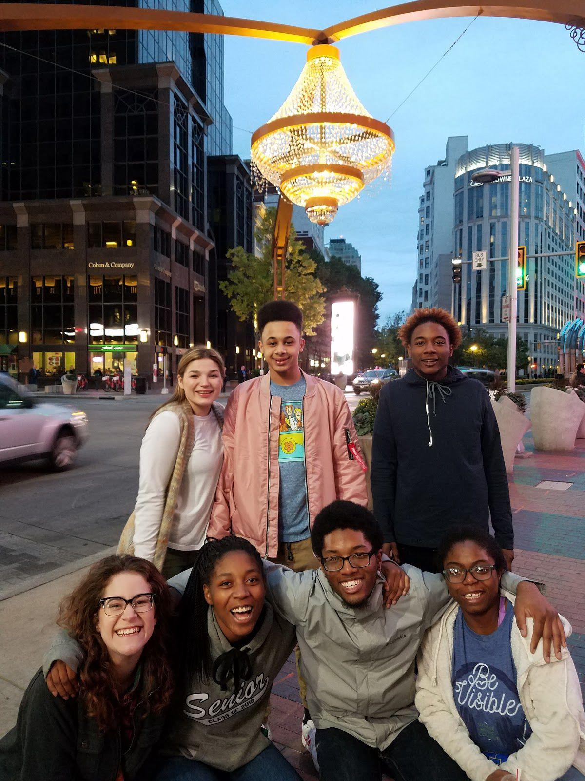 Students at Playhouse Square